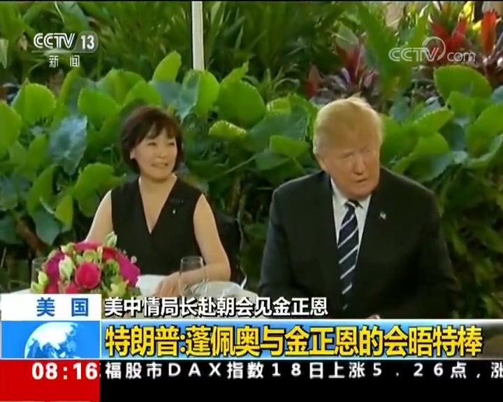 特朗普:中情局长赴朝会见金正恩